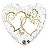 Qualatex Folienballon 17244verschlungene hearts-gold, 91,4cm farbenreiche