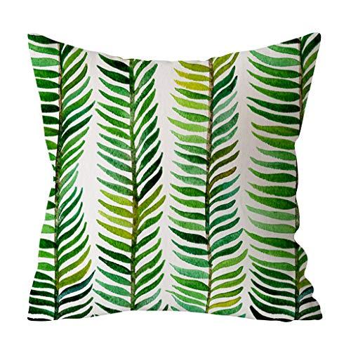YWLINK Almohada De Planta La Hoja Verde Imprimió