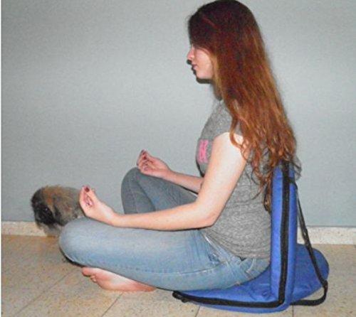 Azul Silla plegable Yoga Meditación Vipassana piso