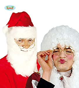 FIESTAS GUIRCA Gafas Redondas de Metal sin Lentes para Disfraz de Juez o Santa Claus.