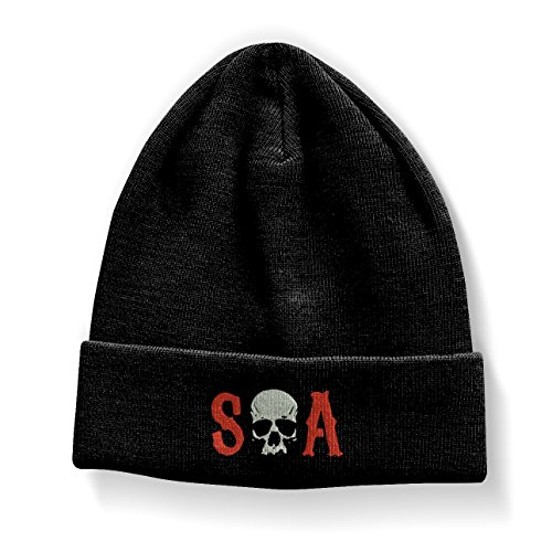 Preisvergleich Produktbild Officially Licensed Merchandise S-O-A Embroidered Beanie (Black)