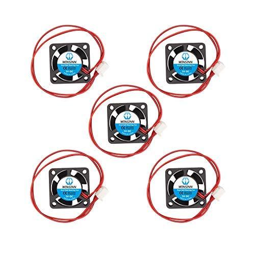 WINSINN 2510 5 V 12 V 24 V DC Dual Kugellager Lüfter 25 x 25 x 10 mm bürstenlose Kühlung für DIY Notebook 3D Drucker 2510 5V