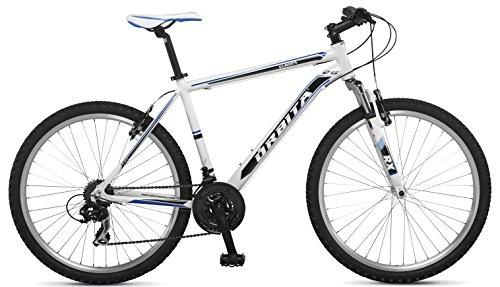 """Orbita EUROPA 26"""" - Bicicleta BTT de montaña para hombre, 21 velocidades, cuadro 21'' aluminio, frenos V-Brake, blanco, (>190cm)"""