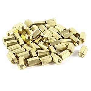 Lot de 50Hex Boulons pour femelle écrou laiton hexagonale d'entretoise M4x 10M410mm