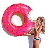 Lady of Luck Flotador Gigante Donut, Inflables Rosado Juguetes PVC Anillo de la Natación Aplicar a Verano Fiesta de la Piscina o de la Playa del Diversión