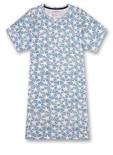 Sanetta Mädchen Nachthemd Sleepshirt Short Allover, Blau (Coronet Blue 50301), 152