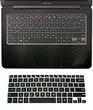 #5: 2in1 Wrist Palmrest Skin Cover Keyboard Protector for 13.3 Asus UX305FA UX305LA UX305CA UX306UA UX330CA UX330UA UX310UA UX310UQ brushed steel silver palmrest cover semi-black keyboard skin matte black palmrest cover+semi-black keyboard skin