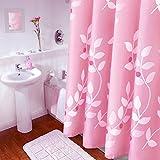 liuhoueDuschvorhänge Waterproof gepolstert Bad vorhänge Rosa vorhänge im badezimmer-A 100x200cm(39x79inch)