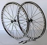 Unbekannt 28 Zoll Fahrrad Laufradsatz Rennrad PRO LITE Hohlkammerfelge schwarz Messerspeichen schwarz