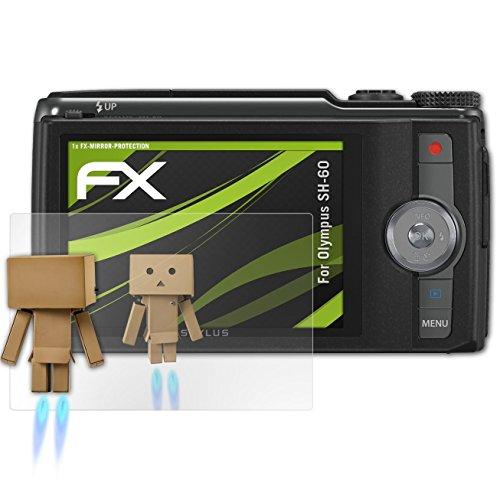 atFoliX Displayfolie kompatibel mit Olympus SH-60 Spiegelfolie, Spiegeleffekt FX Schutzfolie (Olympus Sh-60)
