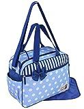 GMMH 2 tlg Wickeltasche 3110 Pflegetasche Windeltasche Babytasche Farbauswahl (blau)