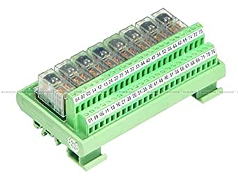 Shavison Relay Module AS375-24V-N-OE, 2C/O, 8 Channel, 24VDC Coil, OEN Relay, Reverse Blocking Diode, Directly Soldered Relay,-Ve Looped Coils, Contact Rating : 28VDC/230VAC, 5A