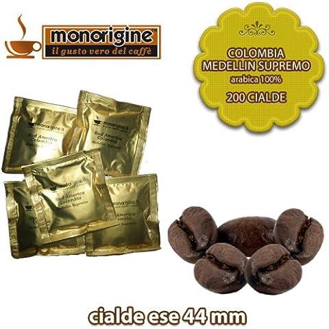 Caffè in 200 Cialde Compatibili Colombia Medellin Supremo - Caffè Monorigine Arabica 100%