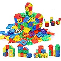 Chocozone 80pcs Jumbo Blocks House Multi Color Building Blocks with Smooth Rounded Edges - Building Blocks for Kids…