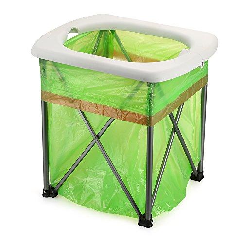 Lixada Toilette Pliante Portable Léger Extérieur Selle de Toilette Confortable pour Le Camping Randonnée pédestre