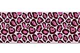 Selbstklebende Bordüre Jaguar Pink, 4-teilig 560x15cm, Tapetenbordüre, Wandbordüre, Borte, Wanddeko,Muster, Afrika