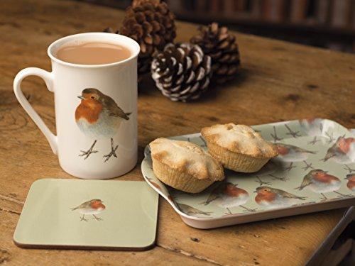 """Creative Tops """"in der Wild Christmas Robin Zeit für Tee Tasse/Untersetzer und Tablett Geschenk-Set"""