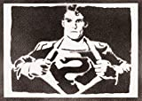 Poster Superman Handmade Graffiti Street Art Artwork