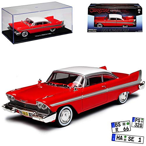 Greenlight Plymouth Fury Coupe Rot Christine Stephen King 1956-1958 1/43 Modell Auto - Modelle Plymouth Auto