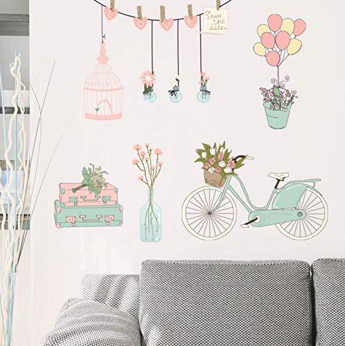 angepasst werden, Größe, Farbe, DIY-Muster】Jetzt Cartoon Float Ballon Muster Wandaufkleber Schlafzimmer Kleiderschrank Kunst Hintergrund Aufkleber Muraux Wanddekoration ()