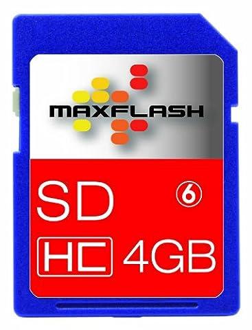 Maxflash Secure Digital High Capacity (SDHC) Card 4GB Speicherkarte (original Handelsverpackung)
