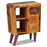 Festnight Holz Sideboard Konsolentisch Highboard aus Recyceltes Massivholz als Lagerschrank mit 2 Fächern und 3 Schubladen 60x30x80cm