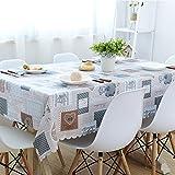 BLUELSS Nordic PVC-Tischdecke leckeres Essen gedruckt, rechteckigen Tisch decken Wasser & Oil-Proof Wave Edge Tischdecke für Hochzeitsfeiern, xinxinxiangyin, ca. 120 x 170 cm