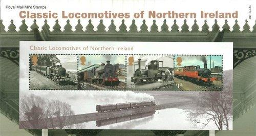 2013Classic locomotive dell' Irlanda del Nord timbri in confezione regalo