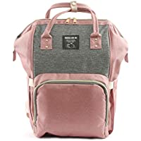 Motherly Stylish Babies Diaper Bags for Mothers - Economical Version (Grey Pink)