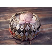 Entrelac Basket Knitting Pattern - Newborn Photography Prop (English Edition)