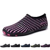 Sixspace Barefoot Water Shoes Womens Mens Unisex Quick Dry Beach Aqua Shoes Lightweight Sports Footwear for Swim Surf Yoga Water Aerobics Pool Lake, Rose Size 6.5 UK/40EU
