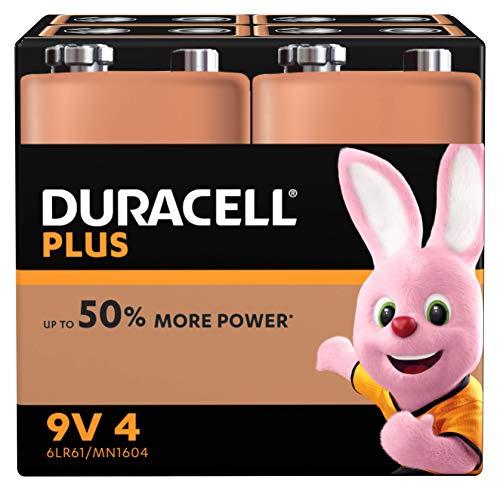 Duracell Ultra, lot de 2 piles alcalines Type 9V 1,5 Volts 6LR61 MX1604 idéal pour détecteur de fumée (visuel non contractuel)