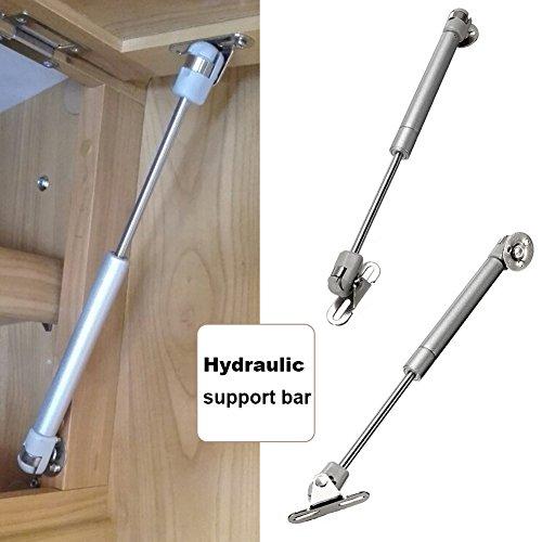 GEZICHTA Hydraulische Gas unterstützt Strebe Deckel bleibt für Möbel Tür Schrank Türen, Schrank Tür Lift Support Druck 40/60/80/100/120/150N (8kg)