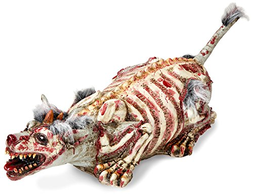 Widmann–Hund Zombie mit Fell unisex-adult, mehrfarbig, 94cm, vd-wdm00490