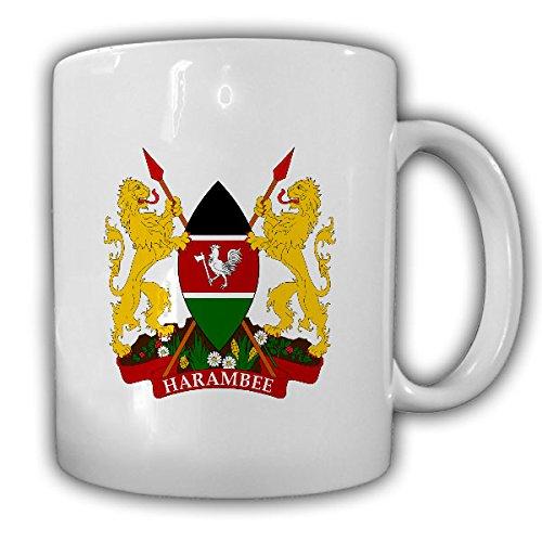 Republik Kenia Wappen_Emblem Jamhuri ya Kenya Kaffee Becher #13542 -