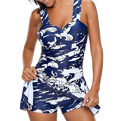 Bluestercool tankini taglie forti sexy swimwear costume da donna mare
