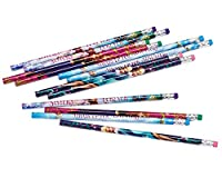 Amscan 394434 Four Mixed Designs Frozen Pencils with Erasers