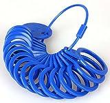 Ringmaß aus Kunststoff, Messgerät für den Durchmesser von Ringen Blau - 4