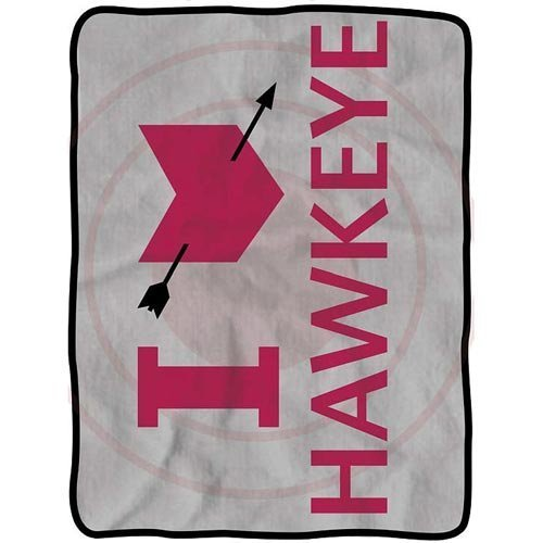 HawkEye Avengers I Heart Fleece Decke -