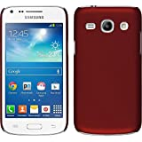 PhoneNatic Case für Samsung Galaxy Core Plus Hülle rot gummiert Hard-case für Galaxy Core Plus + 2 Schutzfolien