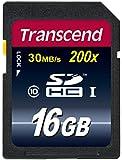 Transcend 16 Go Carte mémoire SDHC Classe 10 TS16GSDHC10