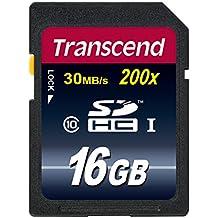 Transcend TS16GSDHC10E Scheda di Memoria SDHC da 16 GB, Classe 10