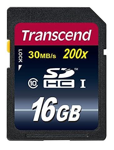 Transcend Extreme-Speed SDHC 16GB Class 10, Speicherkarte (bis 30MB/s Lesen) [Amazon Frustfreie