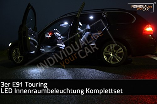 LED Innenraumbeleuchtung SET für 3er E91 Touring - Cool-White Panoramadach Nein