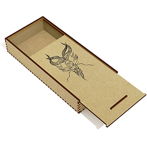 Azeeda 'Testa di Drago' Astuccio per matite in Legno (PC00015905)