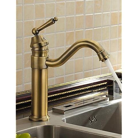 LY&HYL antico ispirato lavandino rubinetto del bagno (finitura ottone anticato)