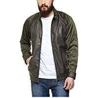 Yepme Mikael PU Leather Jacket - Green--YPMJACKT0297_S