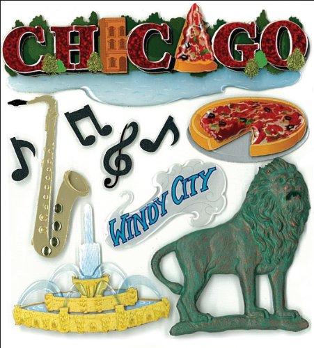 Jolee S Boutique Dimensional Stickers (Jolee 's Boutique dreidimensionale Aufkleber, Chicago)