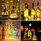 9x 20 LED Flaschen-Licht, Flaschenlichter Weinflasche Flaschenlicht Kork Flaschen Licht LED Lichter Lichterkette Flaschen DIY- Flaschen Lichter für Hochzeit Party Romantische Deko - [ Warm-weiß] - 6