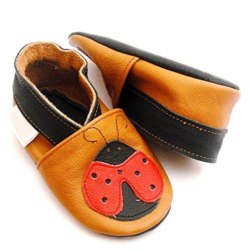 Oulique ® Baby-und Kinderlederschuhe, weiche rutschfeste Pantoffeln (12-18 m)